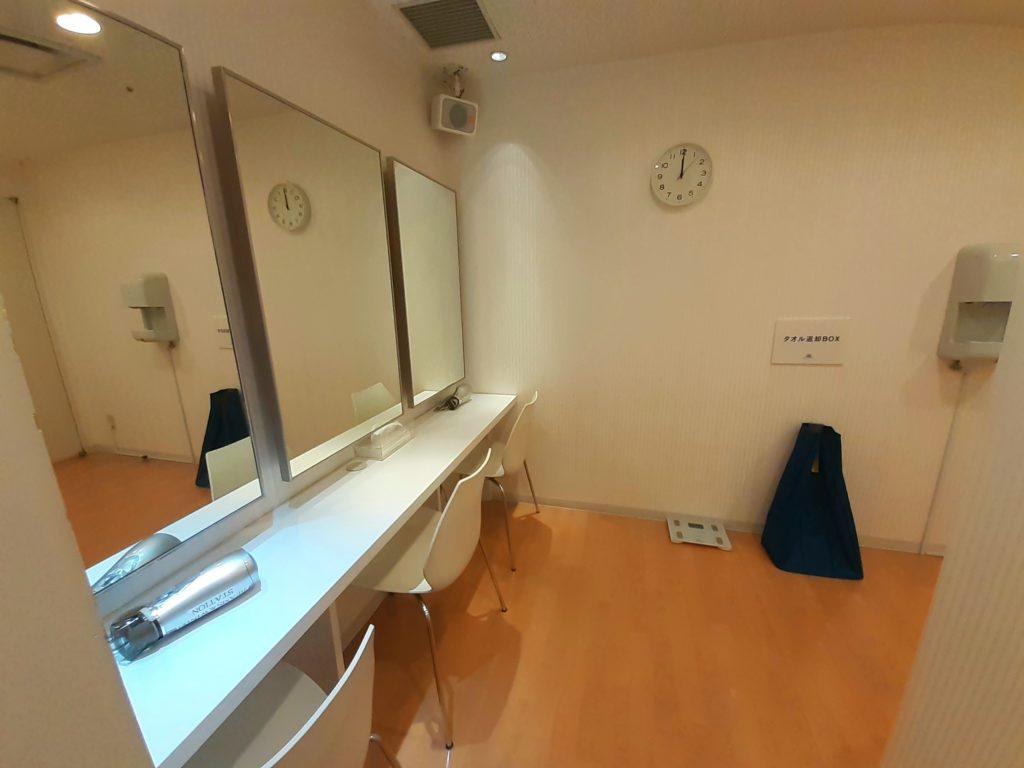 皇居ラン ランステ「ビームス&ウィンズ」 洗面所