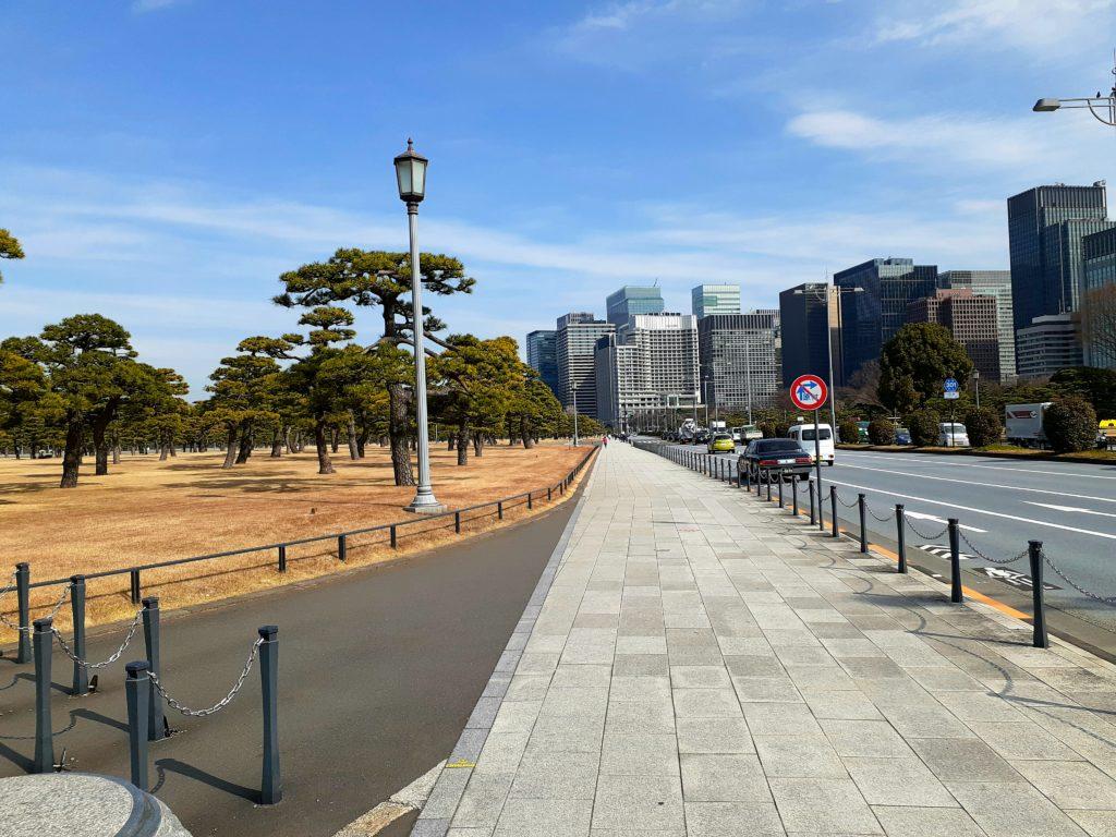 皇居ラン 桜田門の広場 スタートライン