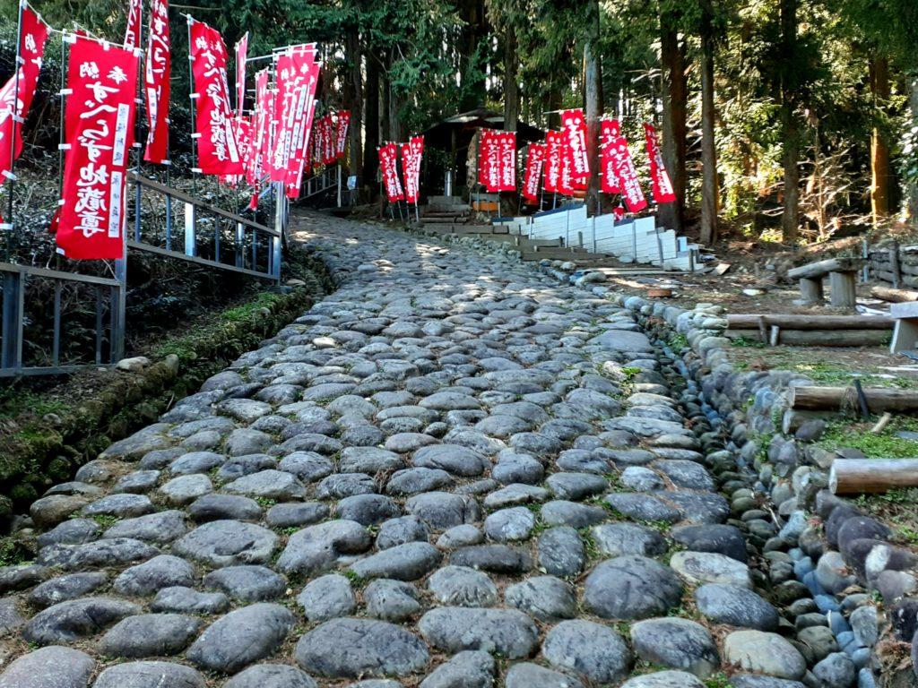 江戸時代の旧東海道の金谷坂
