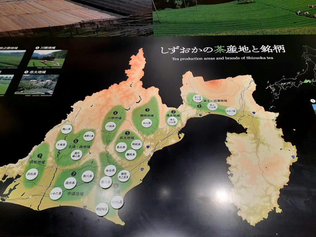 ふじのくに茶の都ミュージアムお茶の生産地と銘柄