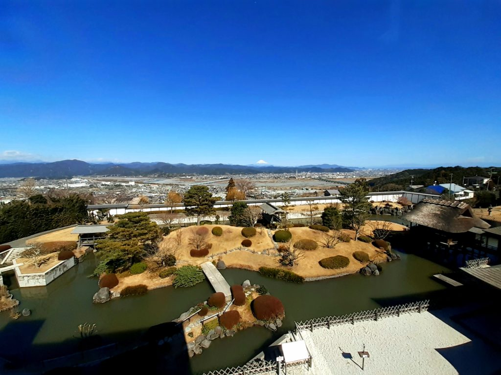 ふじのくに茶の都ミュージアムから富士山が見える