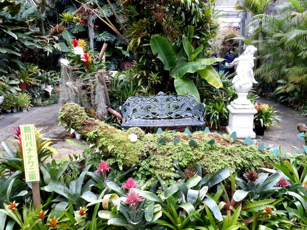 バナナワニ園の記念撮影スポット