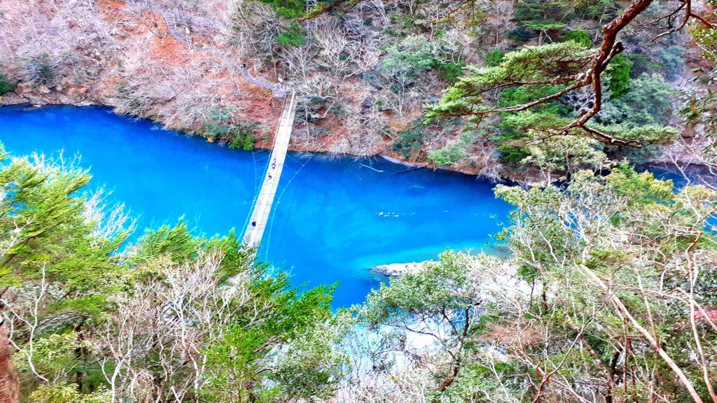 静岡の寸又峡温泉 夢の吊り橋 ハイキングコース