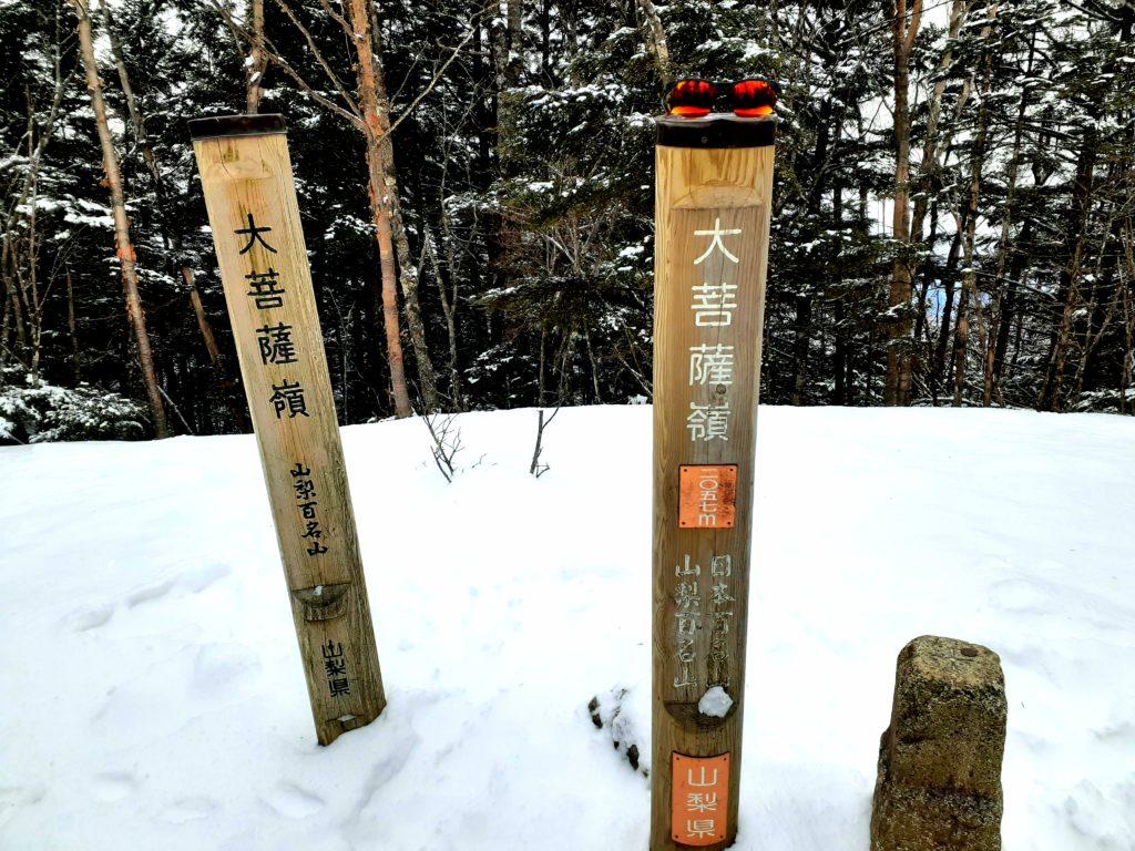 【大菩薩嶺】初心者向け日帰り登山コース 山頂