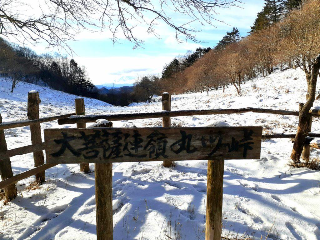 【大菩薩嶺】初心者向け日帰り登山コース 丸川峠