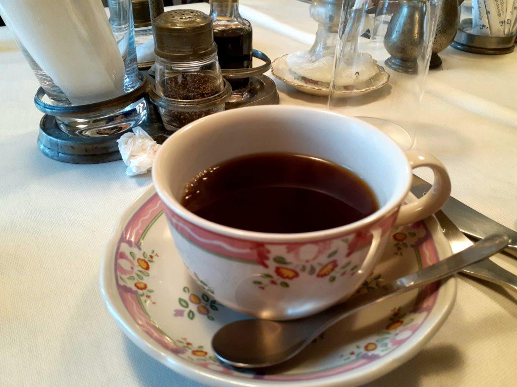 清里オーチャードハウスの朝食のコーヒー