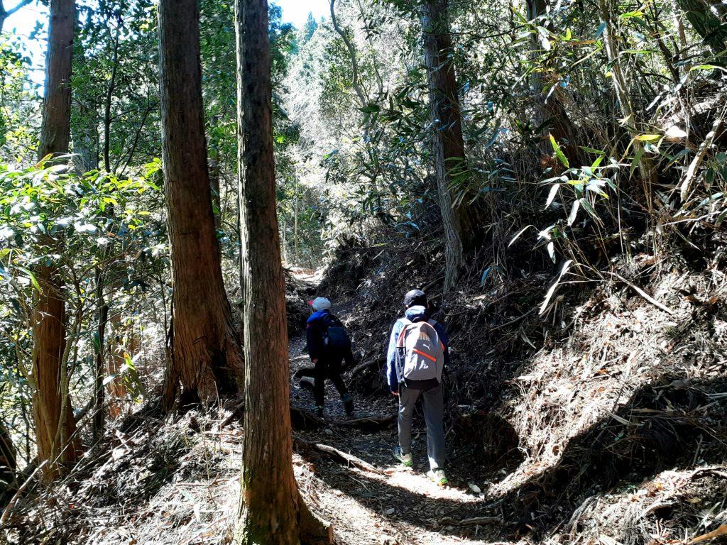 静岡市の竜爪山の登山、子どもたち