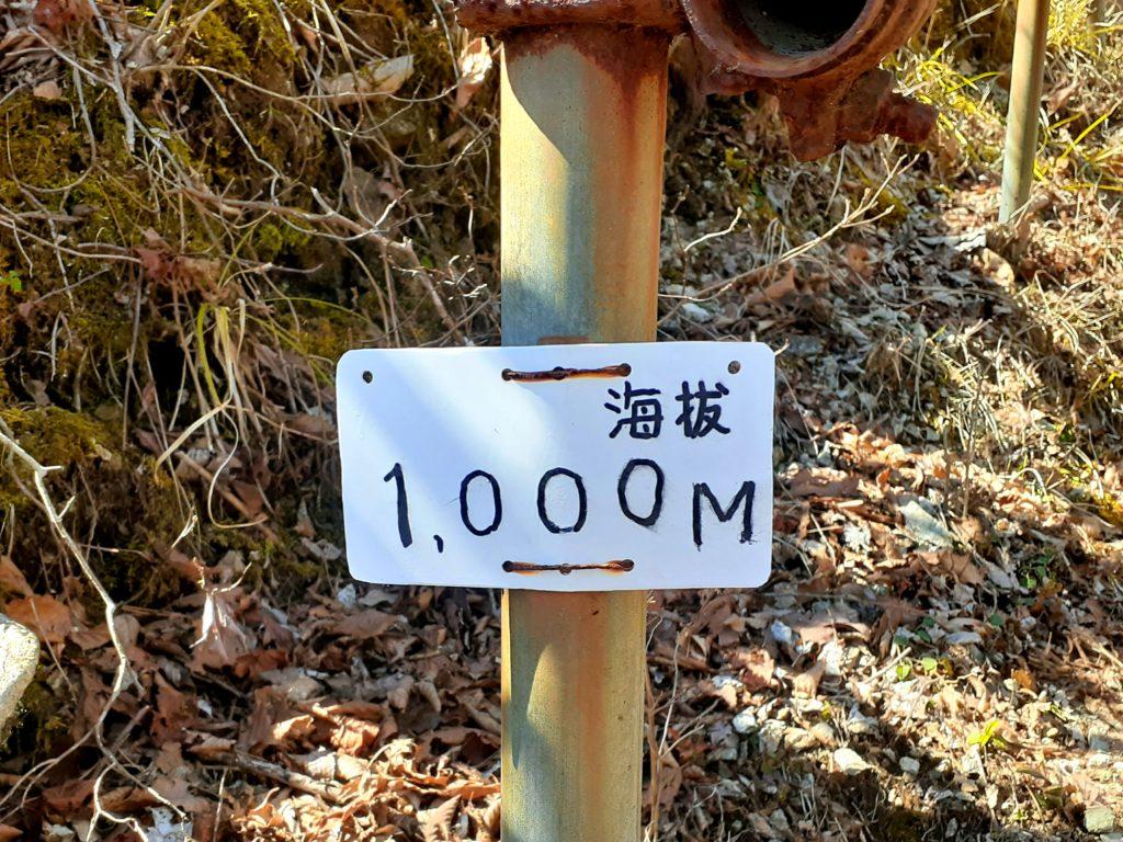静岡市の竜爪山の登山、標高