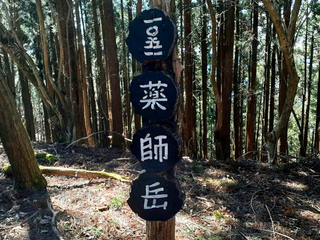 静岡市の竜爪山の登山、薬師岳