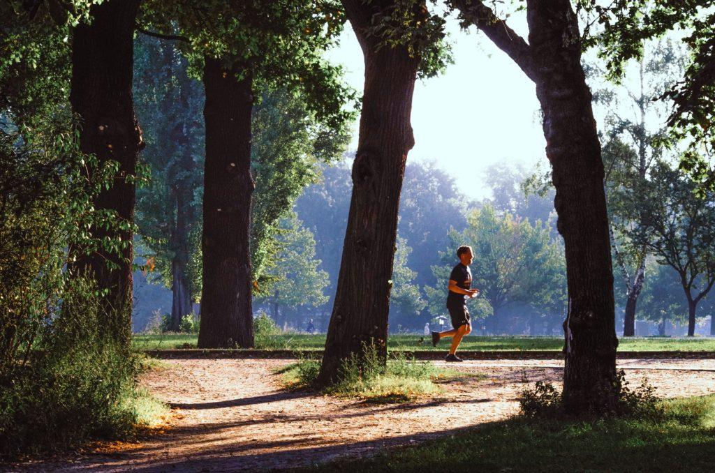 大自然の中を走れる爽快感