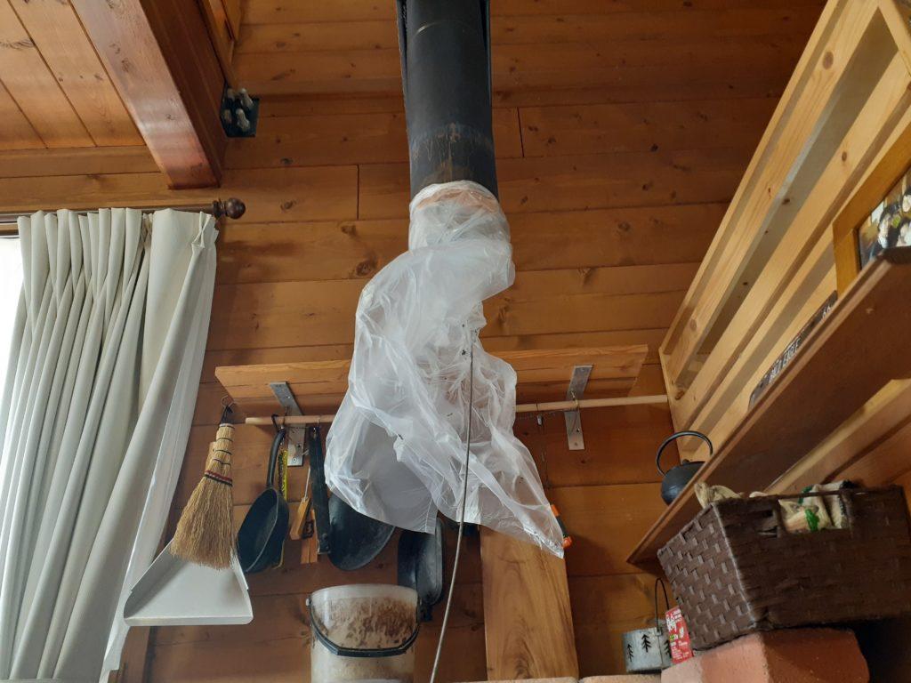 薪ストーブの煙突掃除のやり方、方法