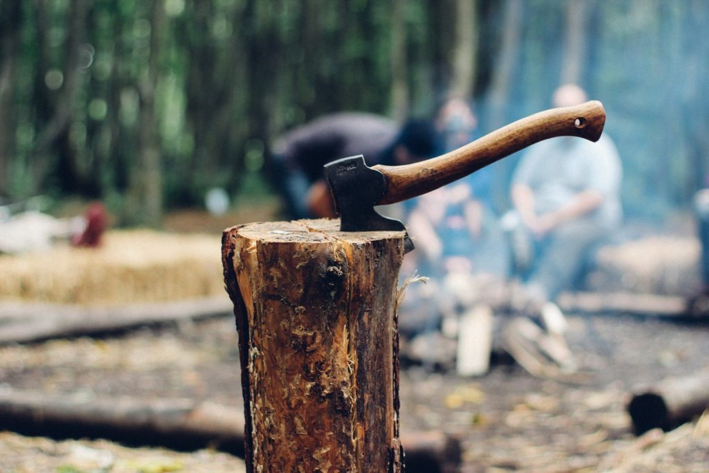 薪割り、薪集めのやり方