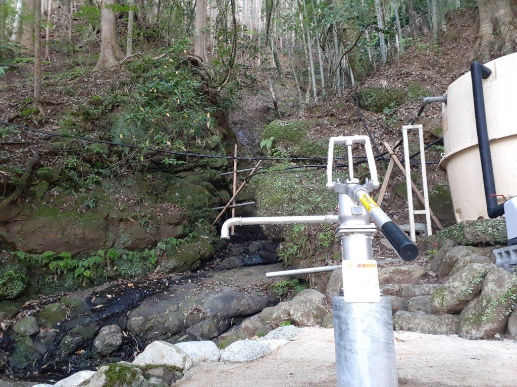 福士川オートキャンプ場、井戸水