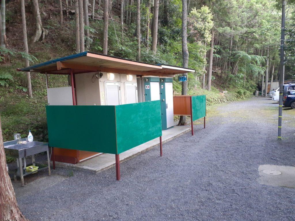 福士川オートキャンプ場、トイレがきれい