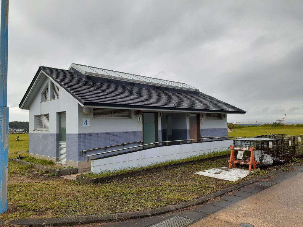 マリンパーク御前崎キャンプ場 トイレ ゴミ置き場