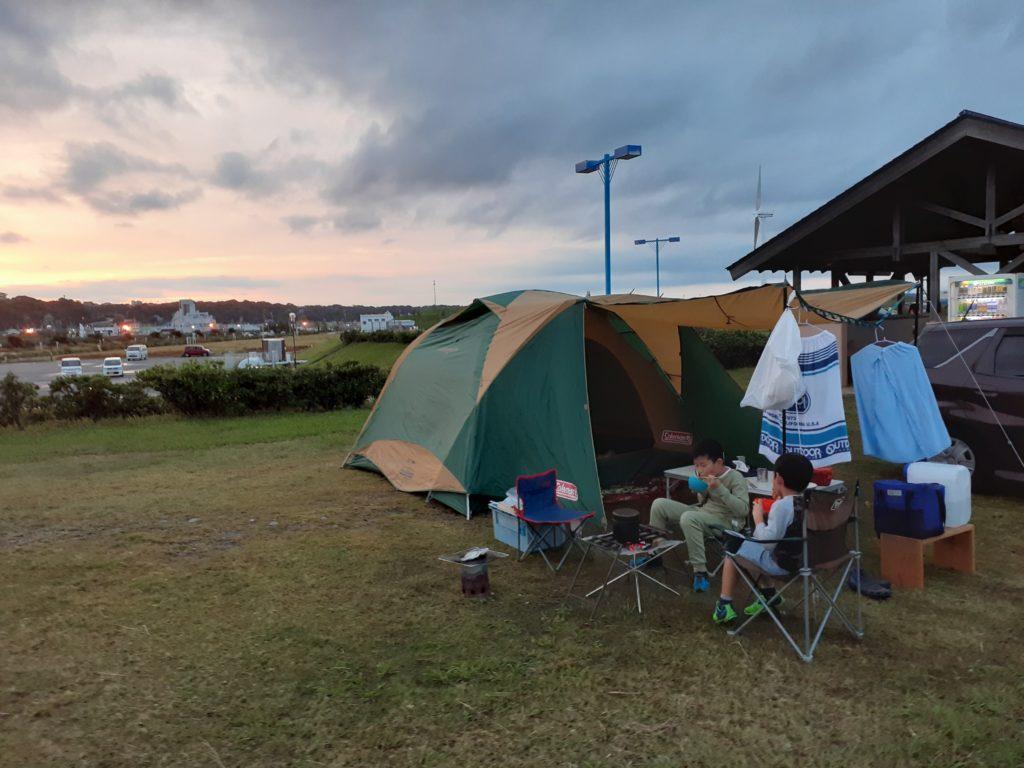 【マリンパーク御前崎キャンプ場】海遊び!魚介のバーベキューが最高!