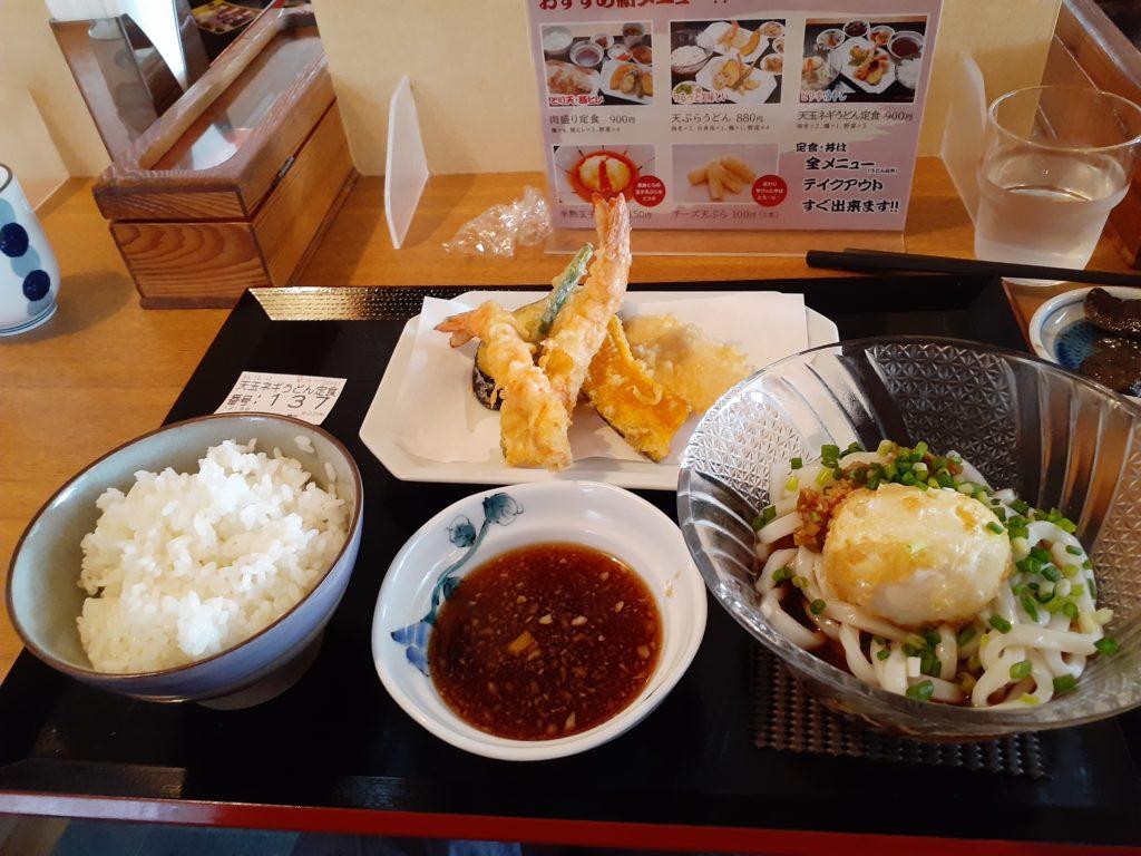 博多天ぷら専門店「織田」 天ぷらうどん定食