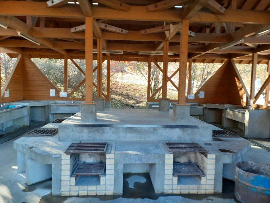 キャンプ場Aサイト 炊事場の様子
