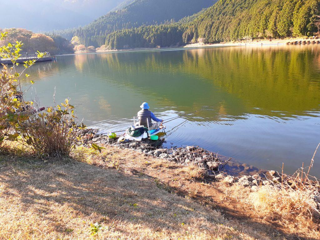 キャンプ場Aサイト 釣り