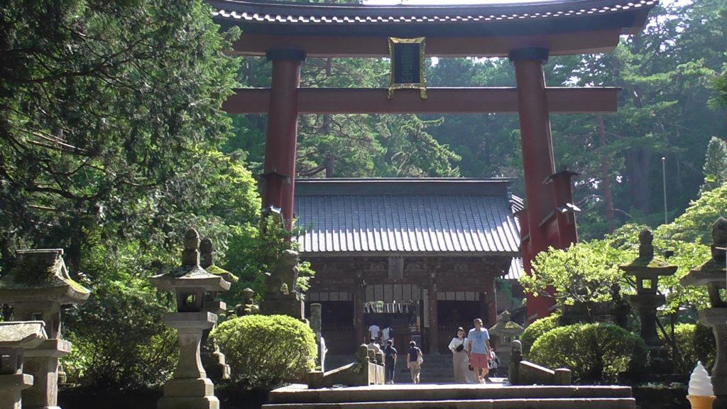 北口本宮冨士浅間神社 富士登山吉田口 日本最大木造鳥居