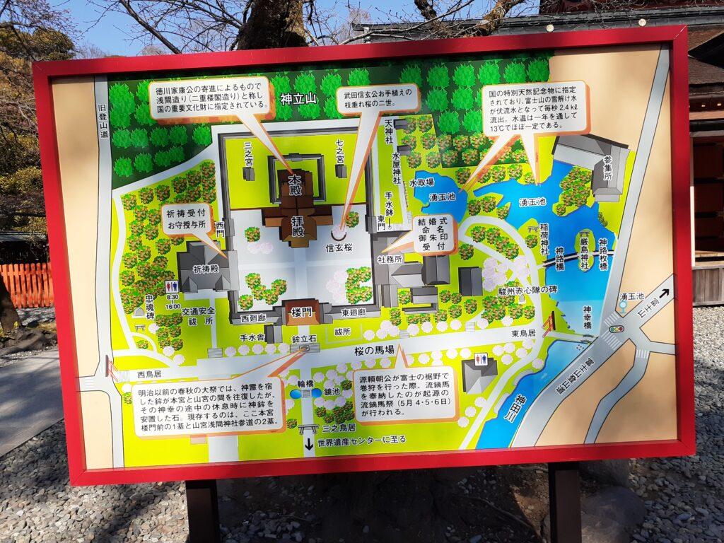 富士宮浅間神社の案内図