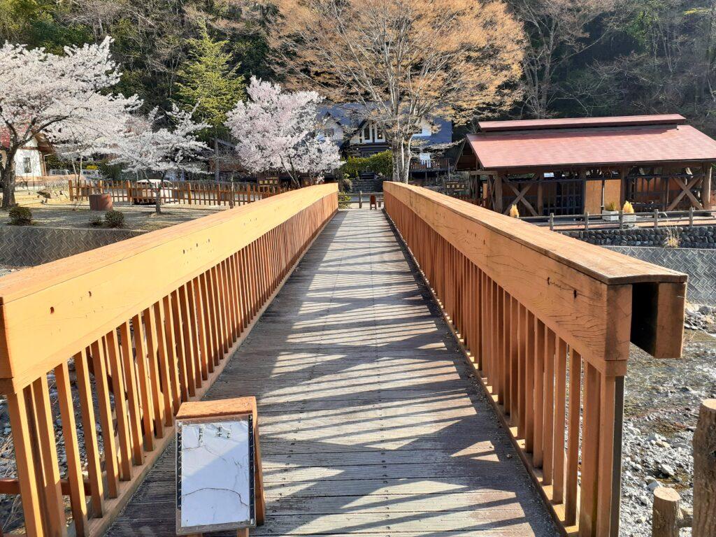 ウエストリバーオートキャンプ場の橋