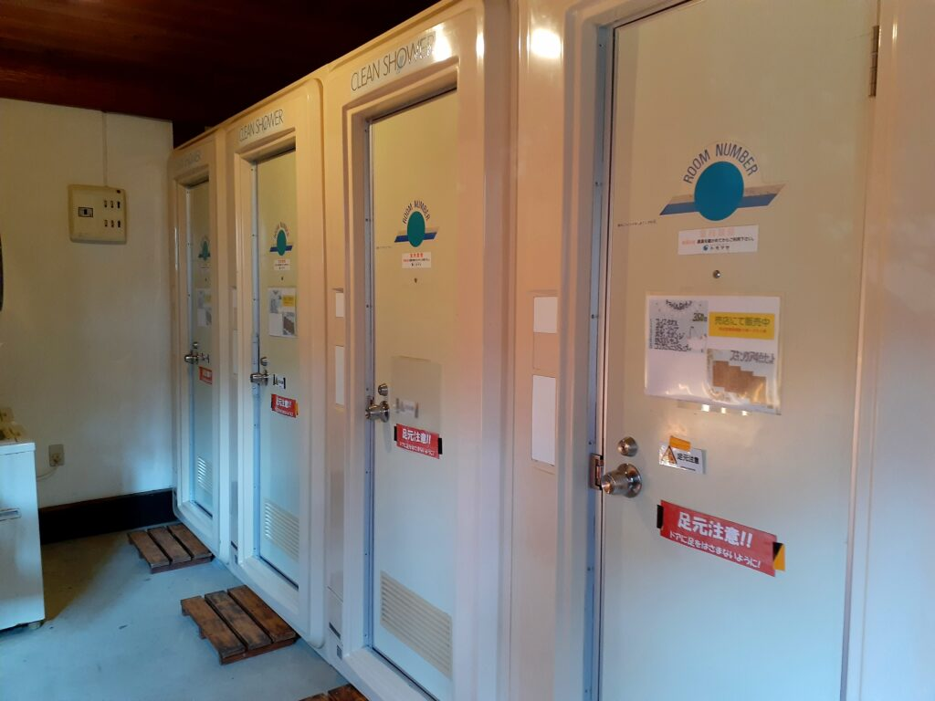ウエストリバーオートキャンプ場のシャワールーム